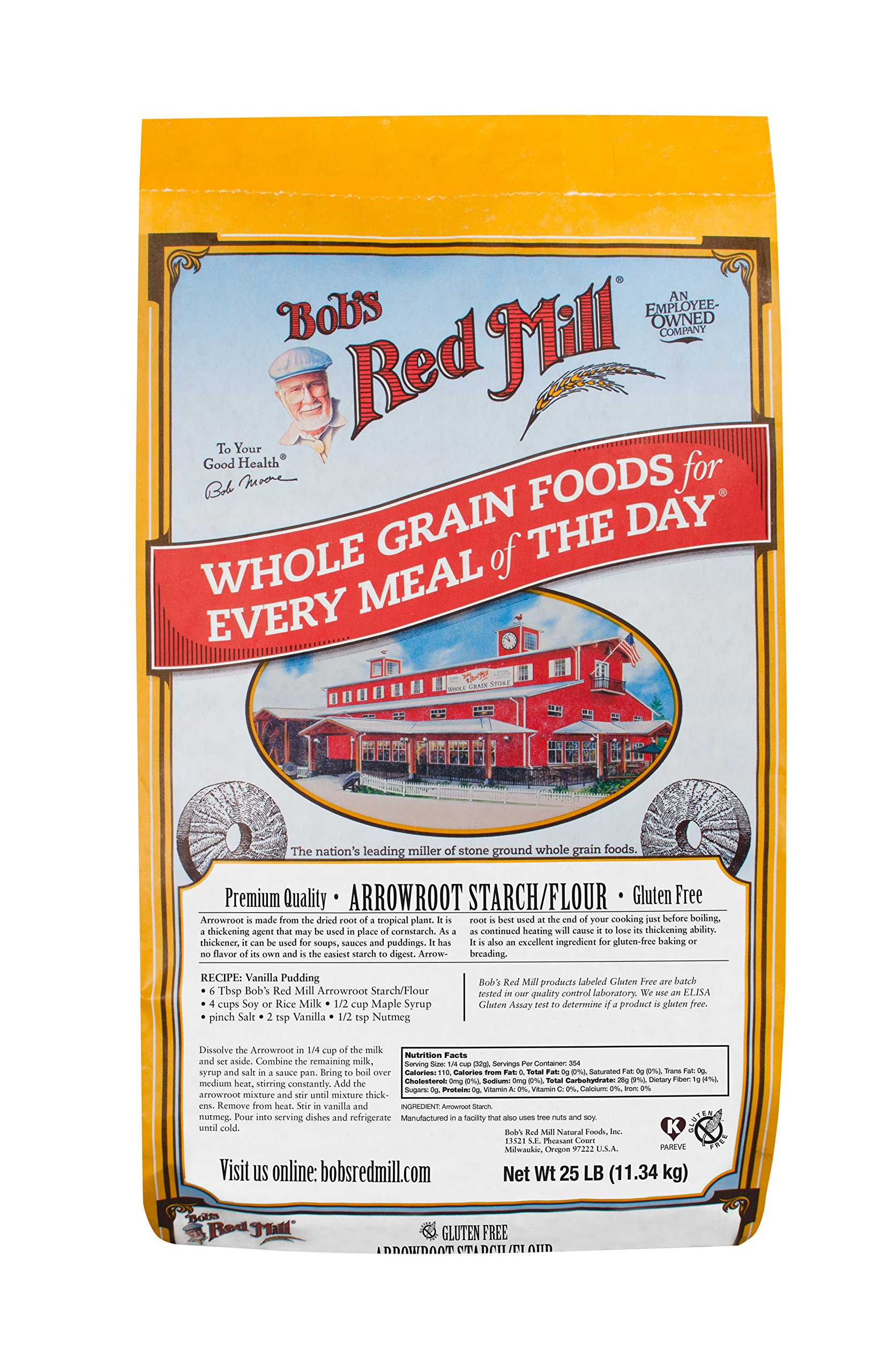 Bob's Red Mill Arrowroot Starch/Flour, 25 Pound