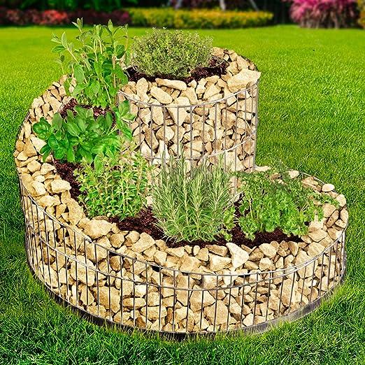 brast Gavión hierbas espiral 52, 5 x 42, 5 cm hierbas Valla de ...