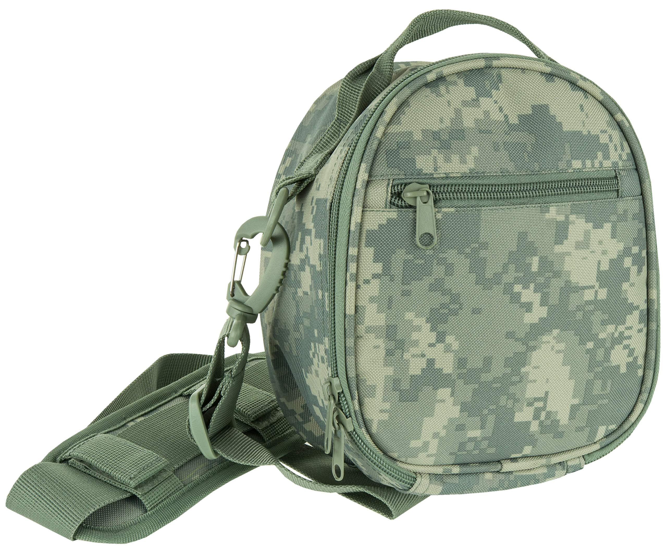 ACE Travel Case for Howard Leight Impact Sport, Impact PRO, MSA Sordin Supreme, Sportac Hearing Protection, Carry Bag with Adjustable Shoulder Strap, Digital ACU Camo by ACE Instruments