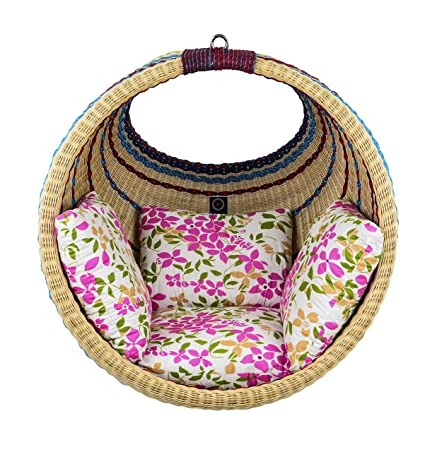 IRA WITH WORD DWELL IN COMFORT Indoor and Outdoor Garden Jhula Swing Chair with Cushion