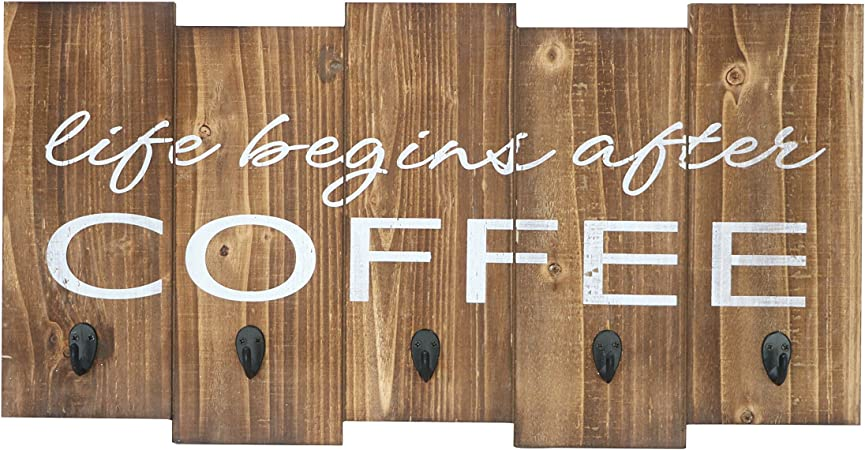 Barnyard Designs Life Begins After Coffee Mug Holder Rack Display Rustic Farmhouse Wood Coffee Wall Decor Sign For Kitchen Bar Cafe 25 X 13 Amazon Co Uk Kitchen Home