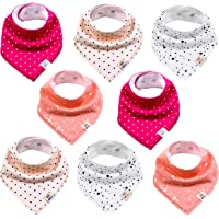 Driehoekige halsdoek voor baby's, 8 stuks, schattig, uniseks van katoen met verstelbare drukknopen, spuugdoek…