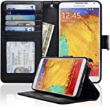 Navor Protective Flip Wallet Case for Samsung Galaxy Note 3 - Black (N3OBK)
