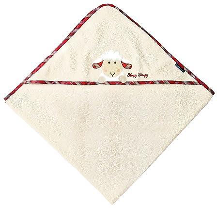 beige beige 100 x 100 cm, y manopla de rizo con oveja Juego de toalla con capucha Morgenstern