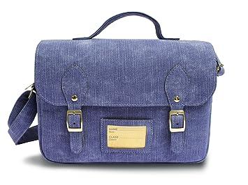 Light Denim Satchel Lunch Bag, Denim Blue: Amazon.co.uk: Kitchen ...