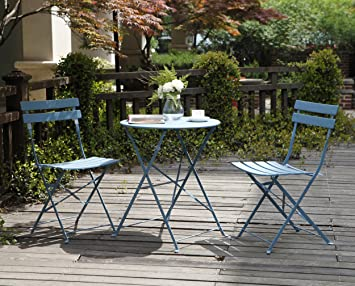 Amazon.com : Grand Patio Premium Steel Patio Bistro Set, Folding Outdoor Patio  Furniture Sets, 3 Piece Patio Set Of Foldable Patio Table And Chairs, ...