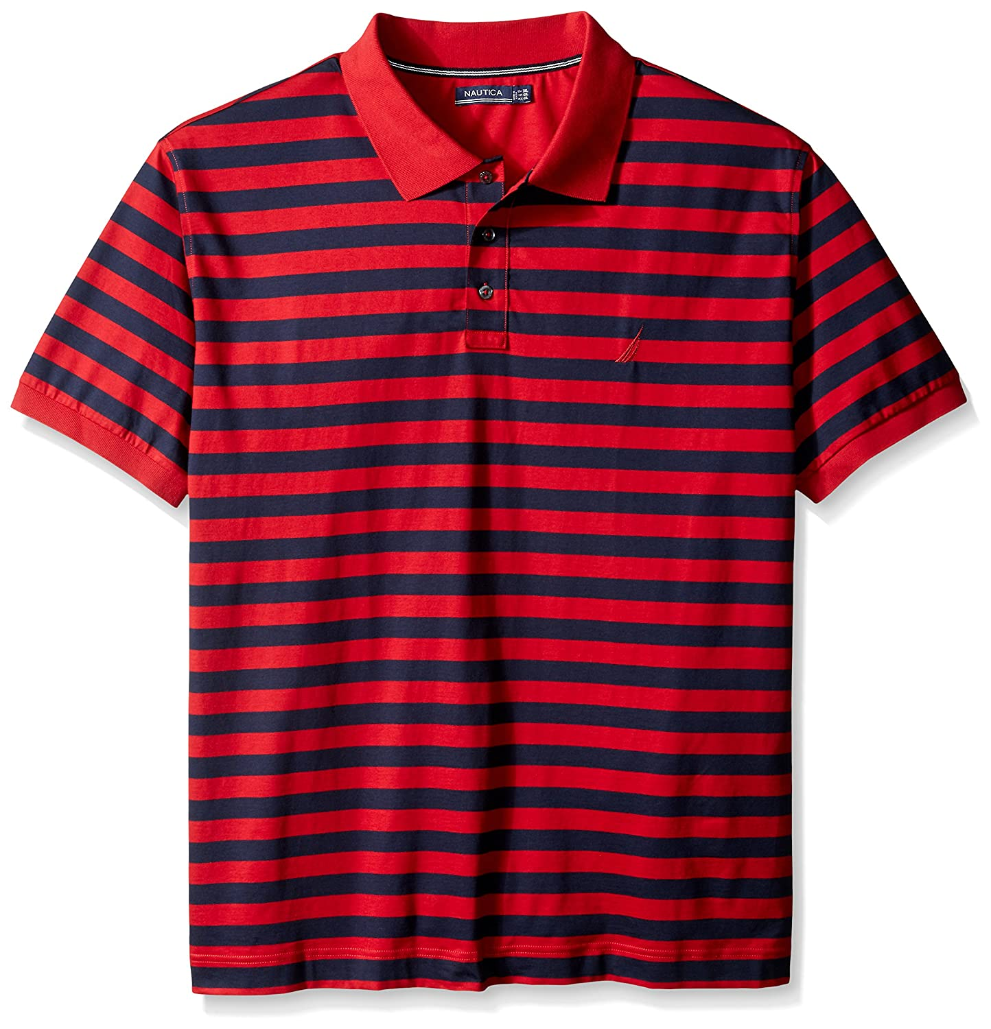 Nautica Men s Big & Tall Rayas Polo para Hombre - Rojo -: Amazon ...