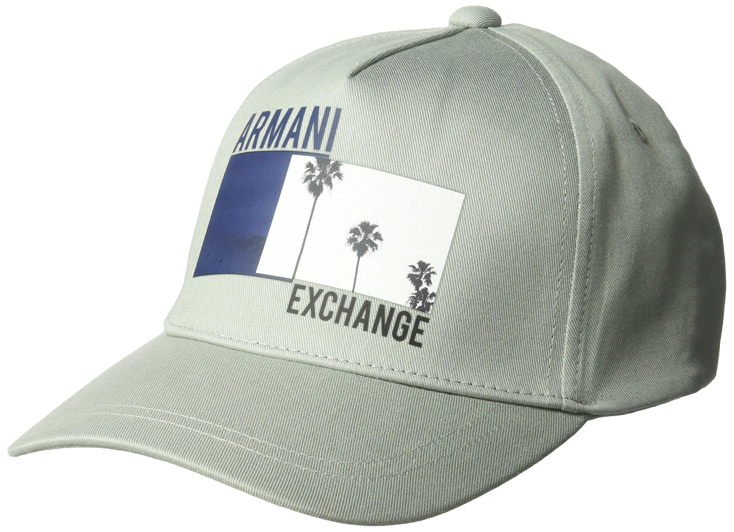 Armani Exchange Men's Endless Summer Cap, Wrought Iron, TU