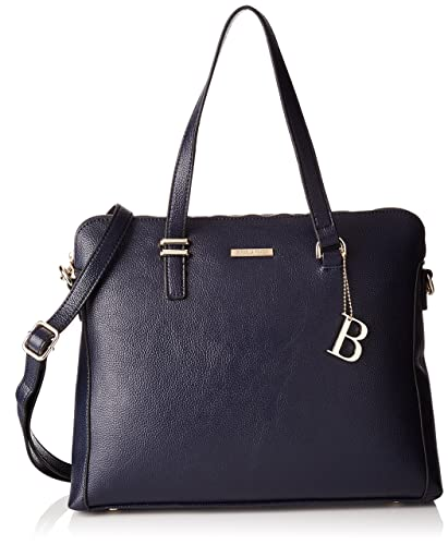 Damen Shadow Handbag Henkeltasche, Blau (Dunkel Blau), 21x12x29 cm Bulaggi