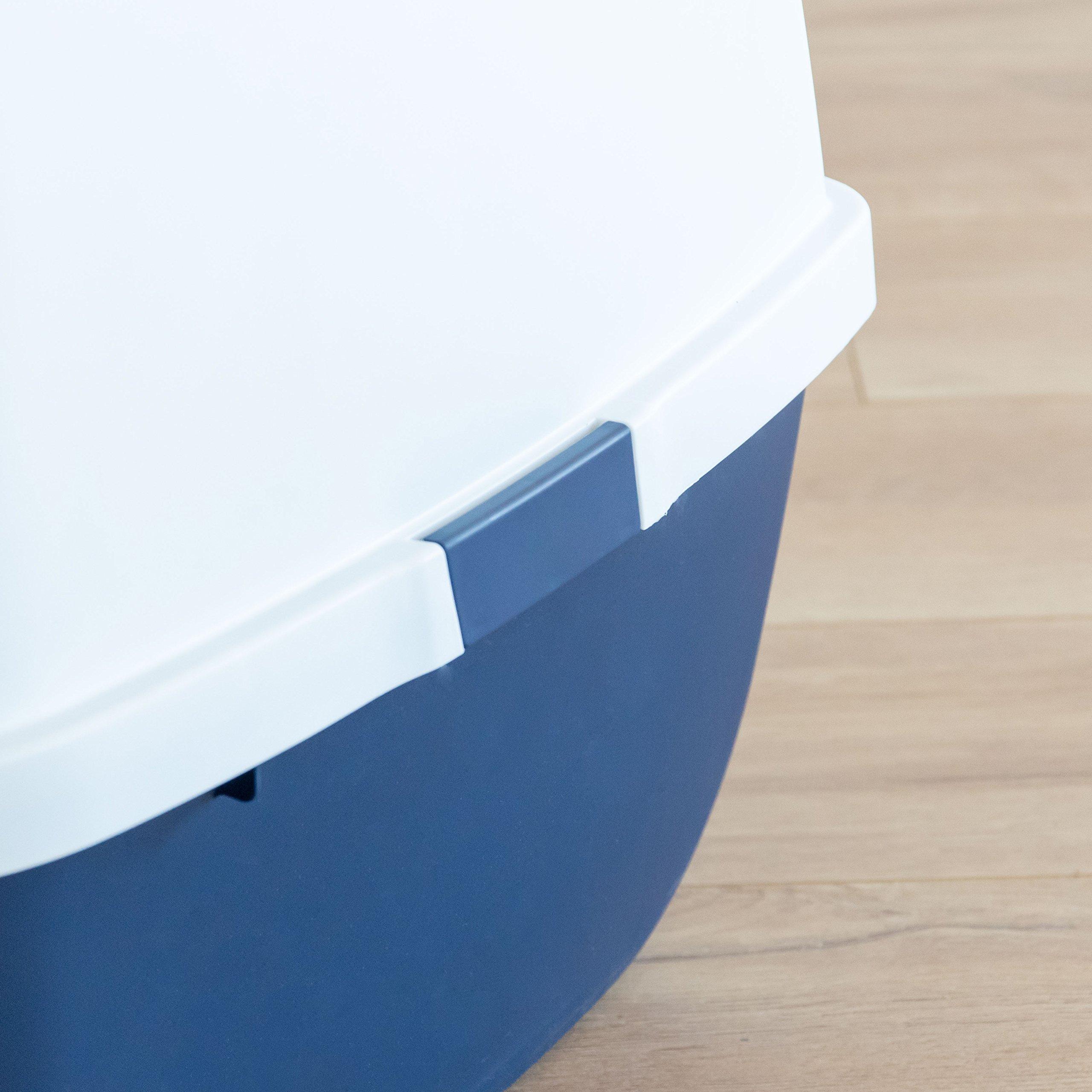 IRIS Jumbo Hooded Litter Box with Scoop, Navy by IRIS USA, Inc. (Image #5)