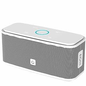 Haut-parleurs Portable Bluetooth DOSS sans fil, Haut-parleur Bluetooth V4.0 avec haute définition qualité sonore & basse supérieure, commande tactile, 12 heures d'autonomie, mains-libres [Blanc] – Soundbox