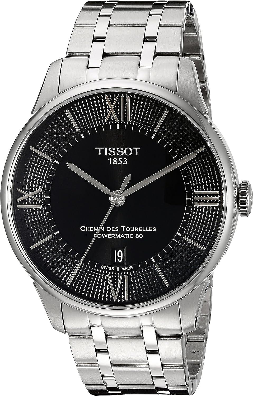 Tissot T0994071105800 T-Classic Chemin des Tourelles Powermatic 80 Automatic Reloj Hombre