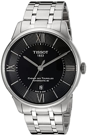 Tissot T0994071105800 T-Classic Chemin des Tourelles Powermatic 80 Automatic Reloj Hombre: Amazon.es: Relojes