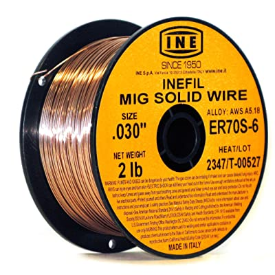 INEFIL ER70S-6 .030-Inch on 2-Pound Spool Carbon Steel Mig Solid Welding Wire - Arc Welding Accessories - .com