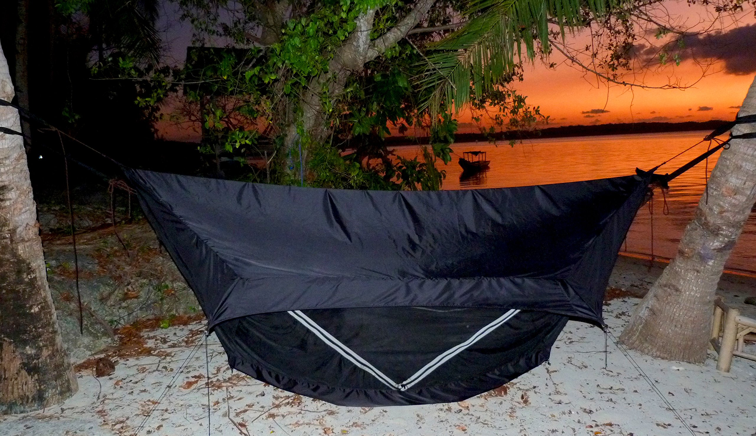 Hammock Bliss Sky Tent 2 - A Revolutionary 2 Person Hammock Tent - Waterproof and Bug Proof Hanging Tent Provides Spacious and Cozy Shelter For 2 Camping Hammocks - Embrace Hammock Camping Comfort by Hammock Bliss (Image #8)