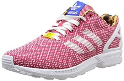 a138ac930 Image Unavailable. Image not available for. Colour  adidas Originals ZX Flux  Weave Womens Trainers ...