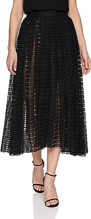 Tracy Reese Womens 1S4P13 Full Midi Skirt Skirt