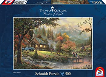 Im Naturparadies Thomas Kinkade Puzzle 1000 Teile Spiel Deutsch 2015