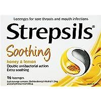 Strepsils Double Antibacterial Soothing Sore Throat Lozenges Honey and Lemon (16 Pack)