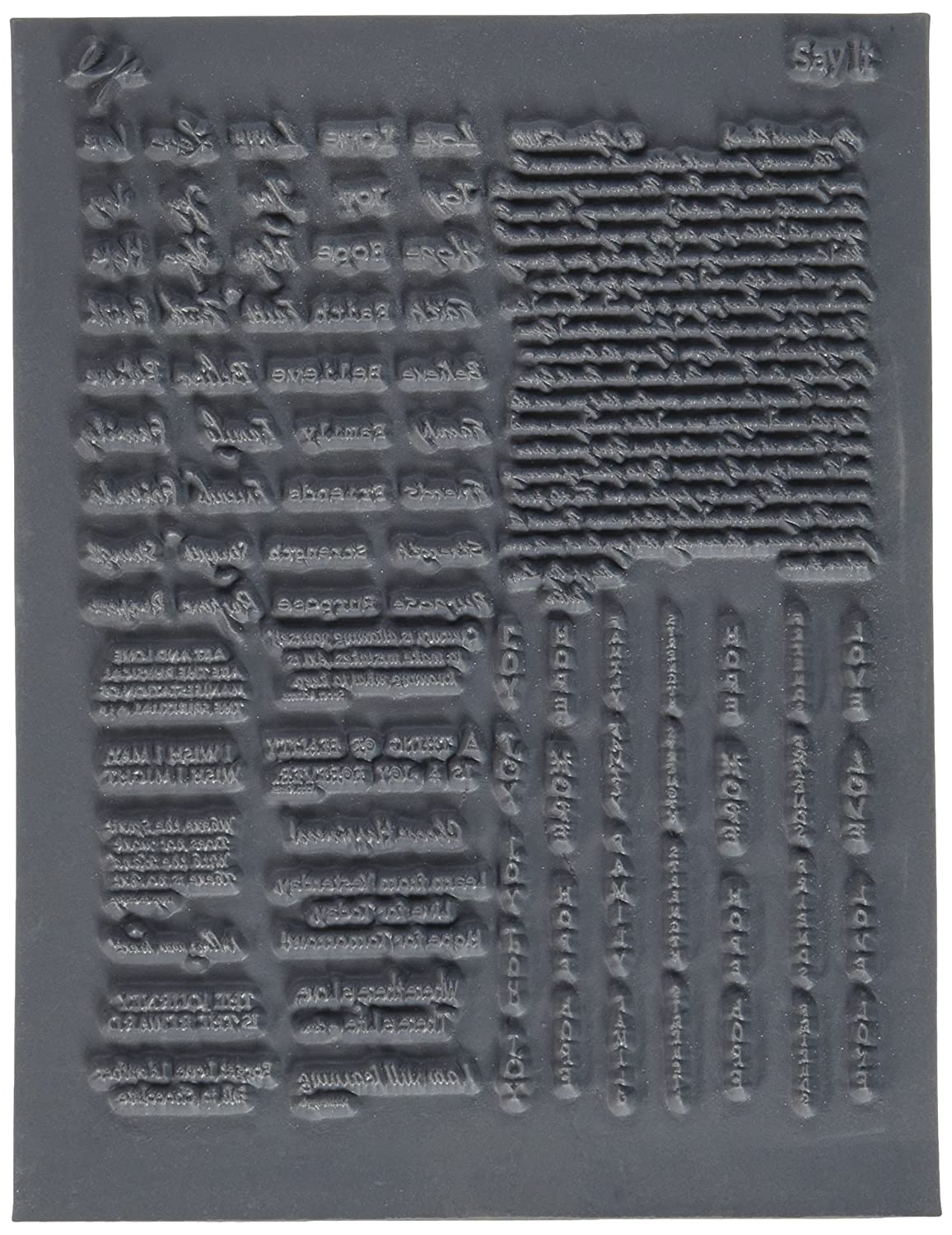 Great Create Lisa Pavelka Individual Texture Stamp, 4.25 by 5.5-Inch, Say It, 1 Per Package LP527-526