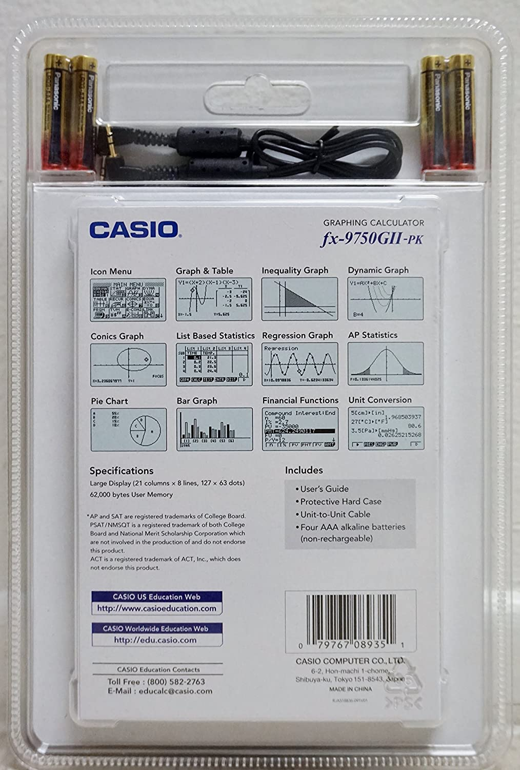 Casio fx-9750GII Graphing Calculator with icon based menu