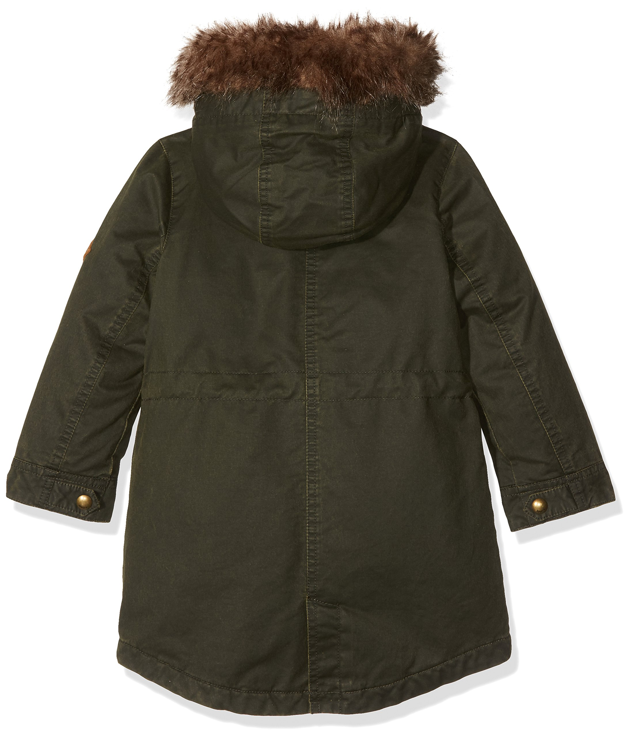 Joules Little Girls' Wynter Faux Wax Parka, Everglade, 5 by Joules (Image #2)