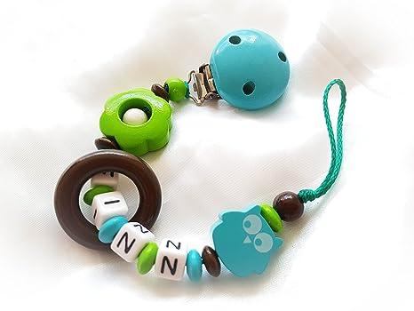 Cadena para chupete con nombres,: Amazon.es: Bebé