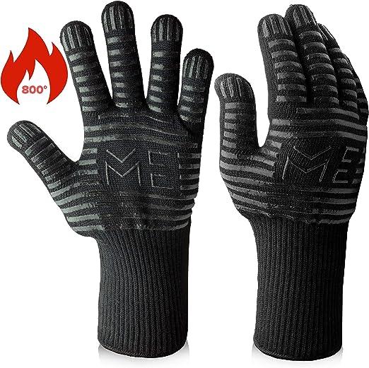 Anlising Gants de barbecue en cuir pour barbecue gants de cuisson r/ésistants /à la chaleur jusqu/à 800 /°C pour barbecue gants de barbecue gants de cuisine gants de cuisson
