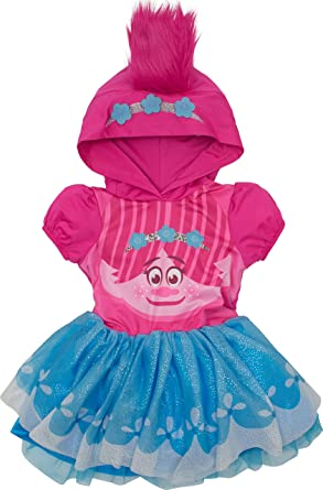 Trolls Poppy Baby Girlsu0027 Costume Dress with Hood and Fur Hair Pink and Blue  sc 1 st  Amazon.com & Amazon.com: Trolls Poppy Toddler Girlsu0027 Costume Dress with Hood and ...