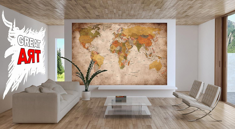 Poster design xxl - Great Art Xxl Poster World Map Photo Wallpaper