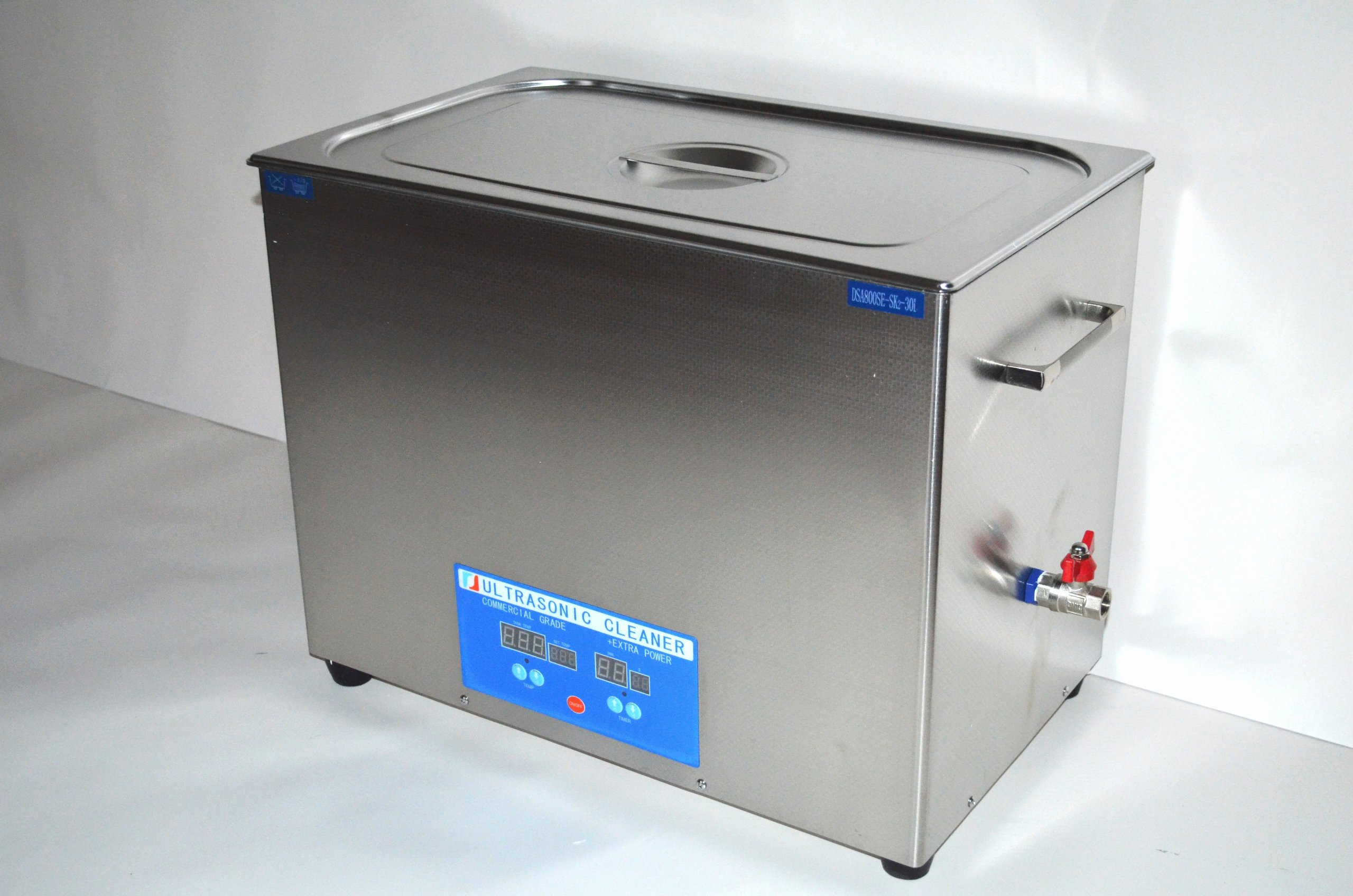 ''COMMERCIAL+ EXTRA POWER'' SERIES DSA800SE-SK2 30L (8 GAL) 1600 WATTS 40KHz DIGITAL HEATED INDUSTRIAL STAINLESS STEEL ULTRASONIC PARTS CLEANER MACHINE WITH INBOARD BASKET AND TOP COVER LID by Desen Precision Instruments Co (Image #5)