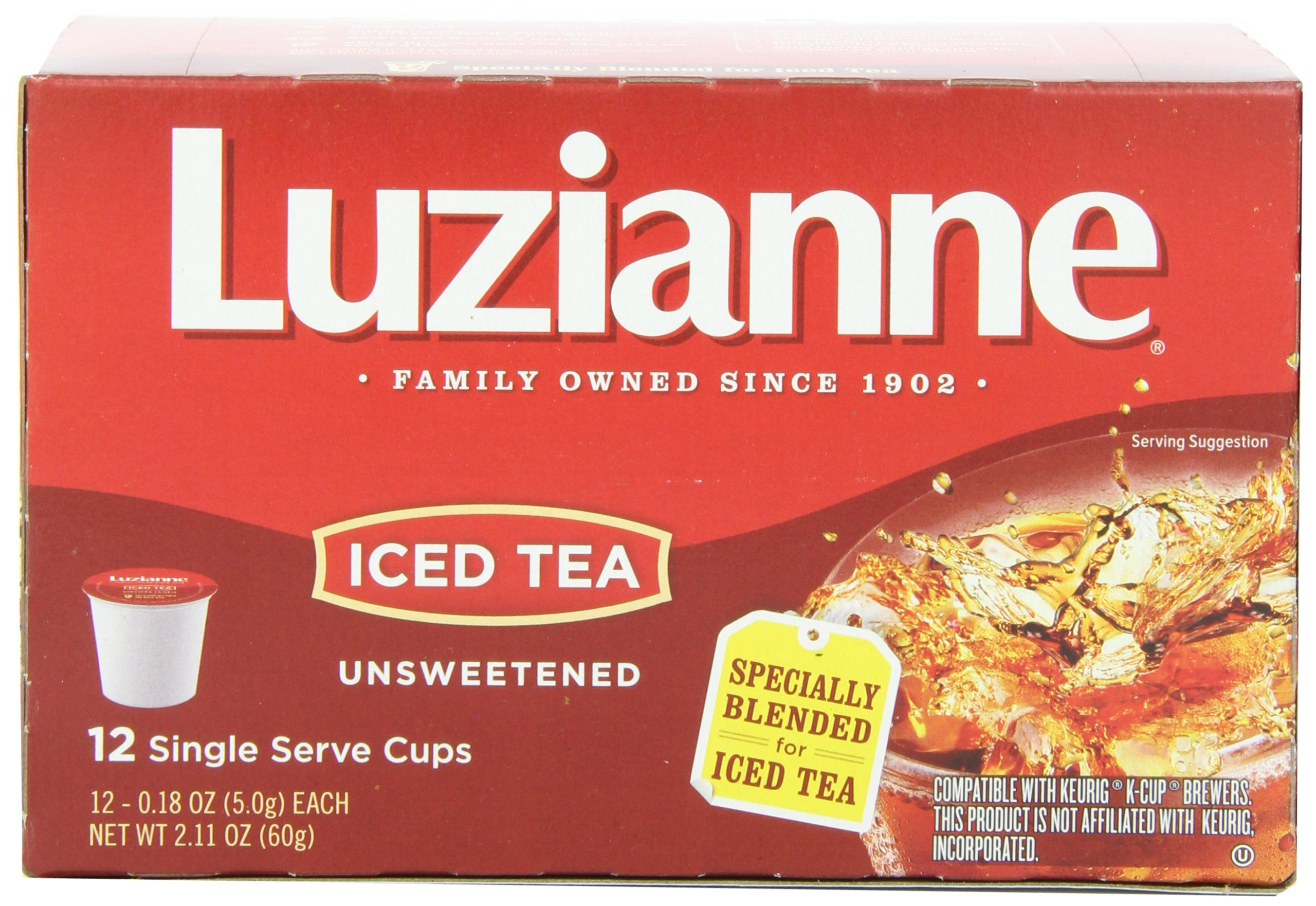 Luzianne Iced Tea, Unsweetened, 12 Count (Pack of 12) by Luzianne