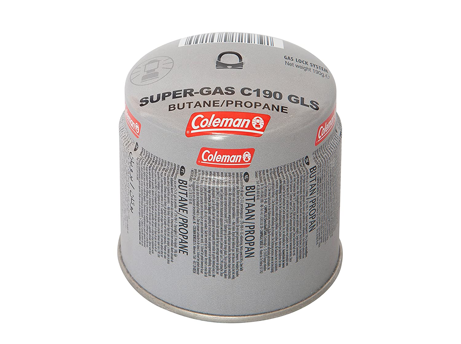 Coleman Camping Stove Gas Cartridge C190 GLS – Cartridge for; with 80/20 Butane/Propane Mix Gas Cartridge, Weight: 190g, Disposable Cartridge CMNS5|#Coleman 3000002280