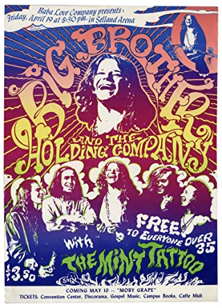 Amazon com: One of the Rarest of 1960s Rock Posters -- Janis Joplin