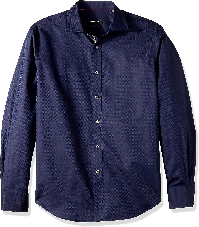 Bugatchi Mens Cotton Shaped Fit Long Sleeve Shirt
