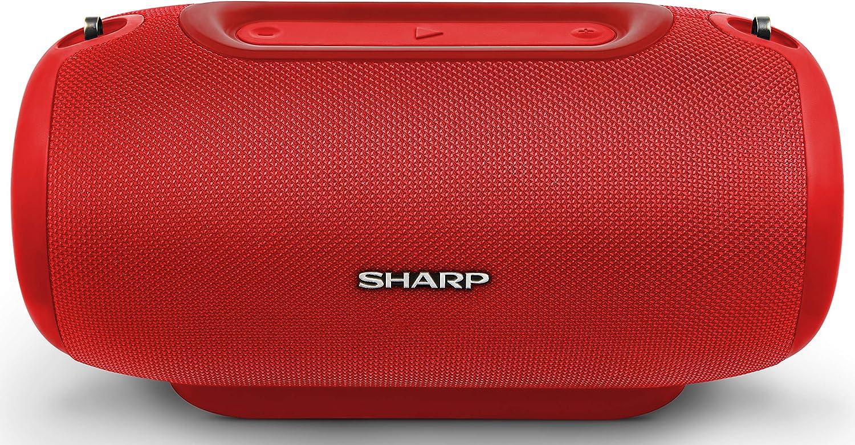 Sharp Gx Bt480 Rd Stereo Bluetooth Lautsprecher 100 Db Spl Ausgang 20 Stunden Spielzeit 3 Eq Micro Sd Staub Spritzwasser Geschützt Mikrofon Für Telefon Google Siri Rot Audio Hifi