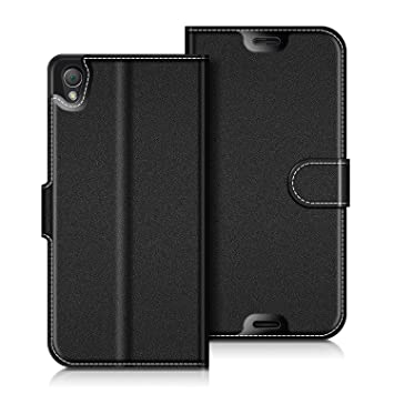 f2a36d21e9f5 coodio Housse Cuir Sony Xperia Z3, Étui Coque en Cuir Sony Xperia Z3, Housse