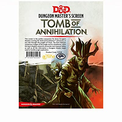 "Dungeons & Dragons - ""Tomb of Annihilation"" DM Screen: Toys & Games"