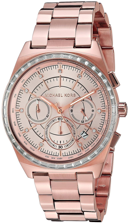Amazoncom Michael Kors Womens Vail Rose GoldTone Watch MK6422