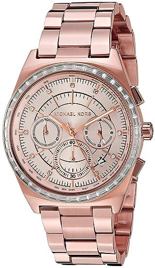 Michael Kors Velo rosa dorado Reloj MK6422 de las mujeres 38 mm Oro de Rose: Amazon.es: Relojes