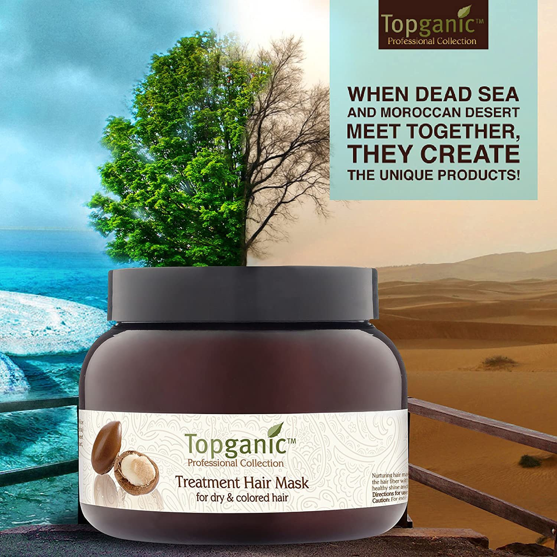 Amazon Com Topganic Argan Oil Dead Sea Elixir Hair Mask For