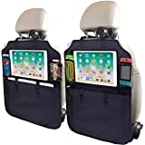 SRAMI Kick Mats Back Seat Protector - Heavy Duty Sag Proof - Seat Back Protector for Kids Feet - Kick Guard - with 13 inch iP