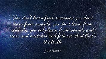 Amazon Com Jane Fonda Famous Quotes Laminated Poster Print 24x20