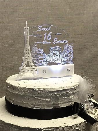 Amazon.com: Personalized Paris Eiffel Tower, Paris Dream Cake ...
