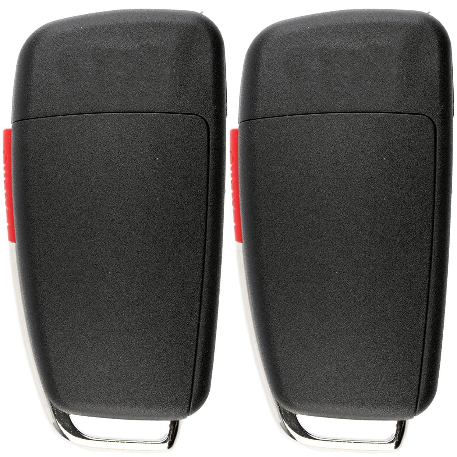 Pack of 2 KeylessOption Keyless Entry Remote Control Car Uncut Ignition Key Fob Replacement for Audi MYT-4073A