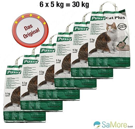 6 x 5 kg=30 kg Pussycat – Plus gato dispersa sin aroma – Envío Gratuito dentro de Alemania (excepto Islas): Amazon.es: Productos para mascotas