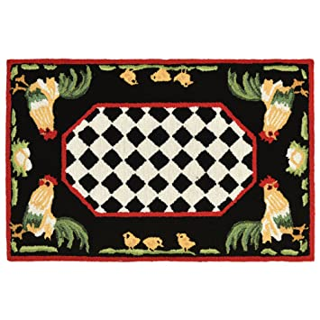 Amazon Com Liora Manne Ftp23240848 2408 48 Rooster Rugs Indoor