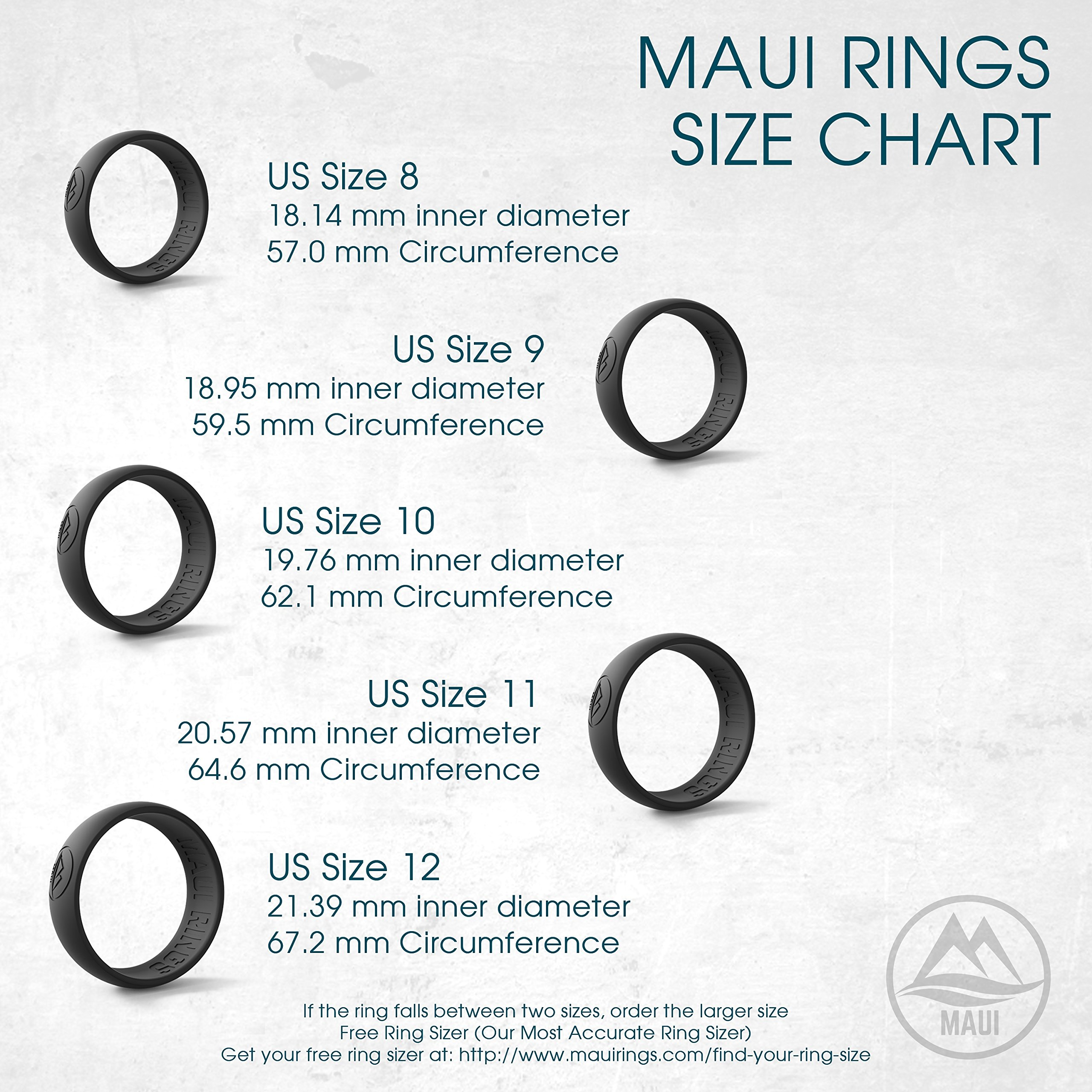 Silicone Wedding Ring by MAUI RINGS 4 PACK Ring Engagement Rings for Men Wedding Band Mens Ring Rubber Bands Mens Rings Surf Fitness Exercise Gym Crossfit Training Sport Running Yoga [ SIZE 8 ]