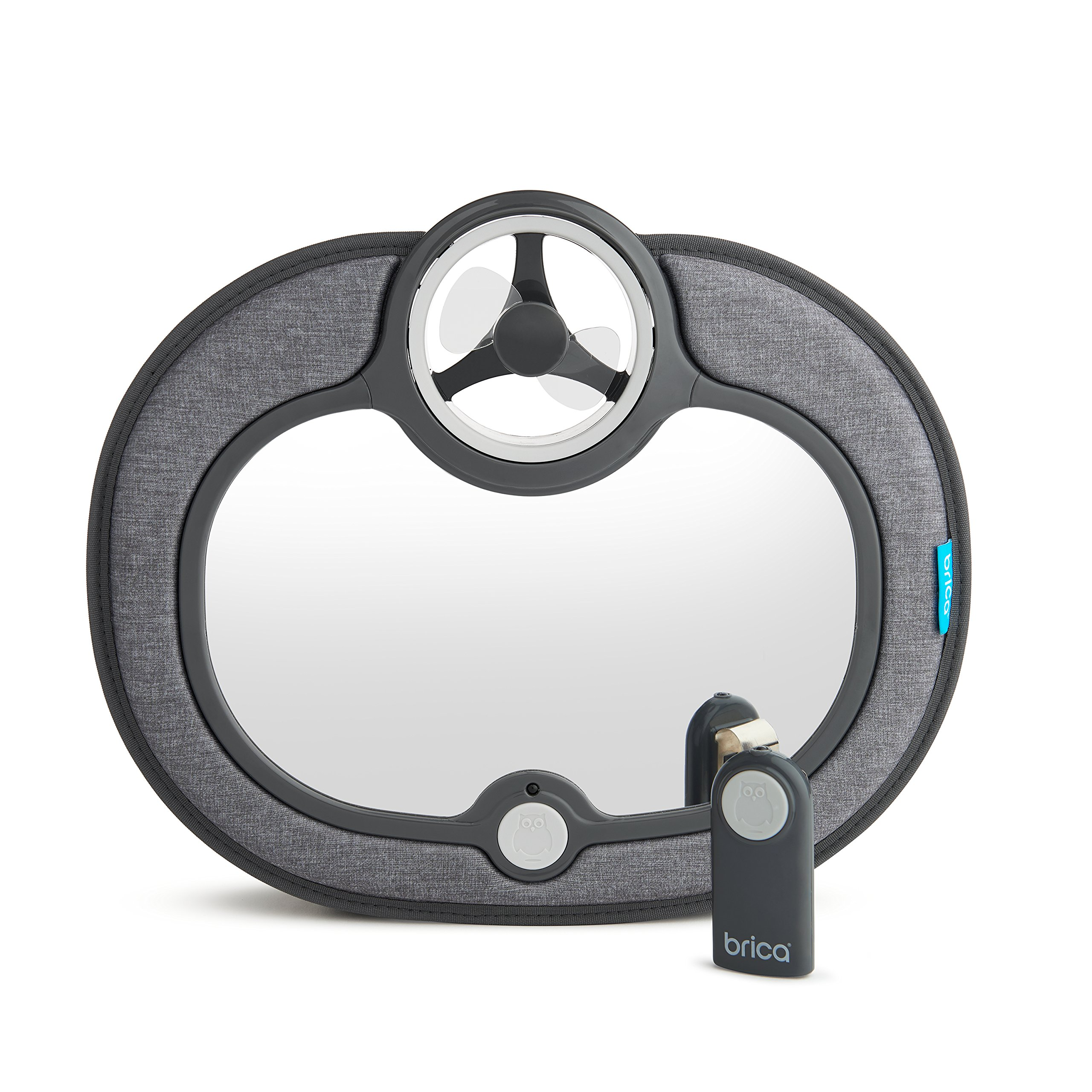 Brica Breeze Baby in-Sight Fan Car Mirror, Grey
