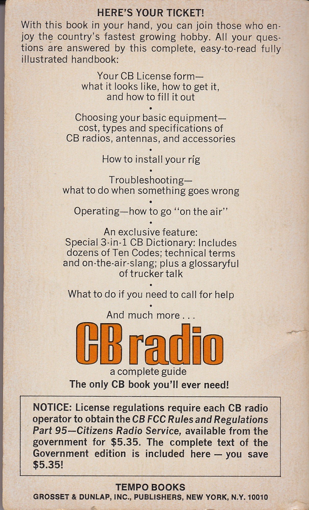 CB Radio: 9780448125206: Amazon com: Books